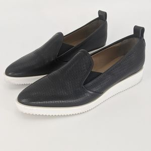 Everlane Black Perforated Leather Street Shoes